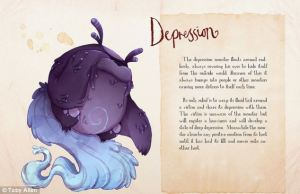 'Depression' from Toby Allen's Mental Illness Monsters series.